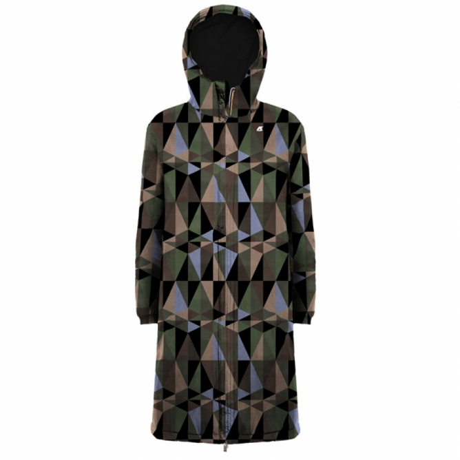 MARLENE WARM DOUBLE GRAPHIC / Black-Prism Green