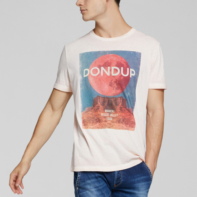 T-shirt in cotone con stampa Dondup