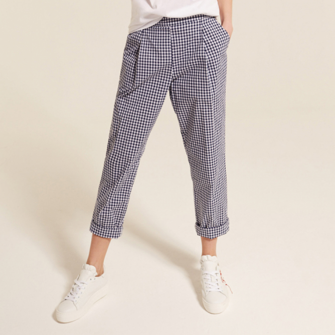 Pantaloni a quadri Semicouture