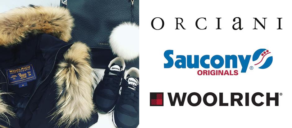 Orciani Saucony e Woolrich Brescia